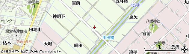 愛知県西尾市寺津町(圦ノ口)周辺の地図