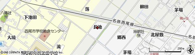 愛知県西尾市十郎島町(長池)周辺の地図