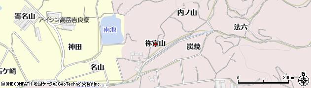 愛知県西尾市吉良町駮馬(祢宜山)周辺の地図