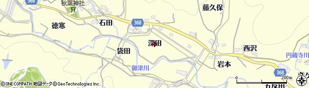 愛知県豊川市御津町金野(深田)周辺の地図