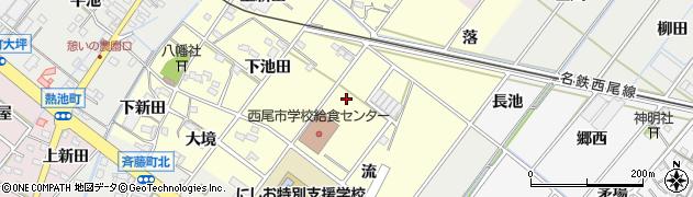 愛知県西尾市須脇町(高河原)周辺の地図