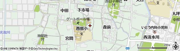 愛知県蒲郡市神ノ郷町(壱町田)周辺の地図