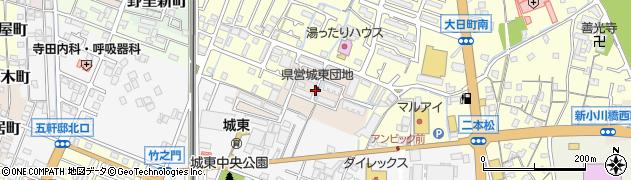 兵庫県姫路市睦町周辺の地図