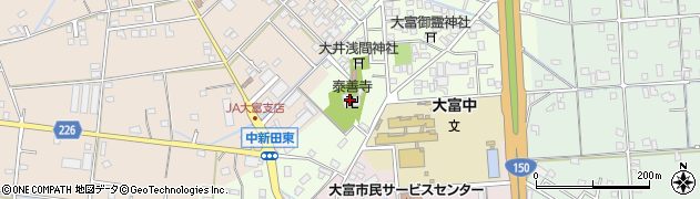 泰善寺周辺の地図