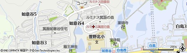 二番街周辺の地図