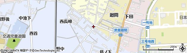 愛知県武豊町(知多郡)東大高(西長峰)周辺の地図