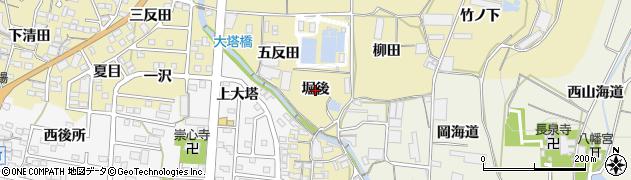 愛知県蒲郡市清田町(堀後)周辺の地図