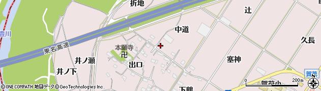 愛知県豊橋市賀茂町(中道)周辺の地図