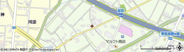 愛知県豊川市篠田町(新屋浦)周辺の地図