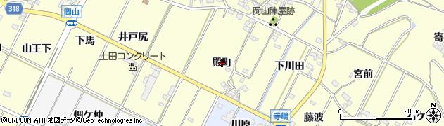愛知県西尾市吉良町岡山(殿町)周辺の地図