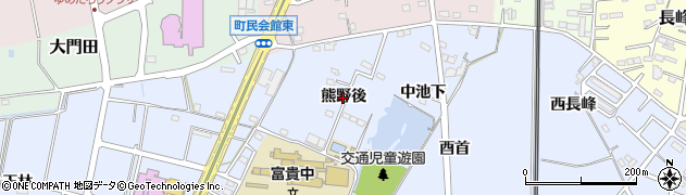 愛知県武豊町(知多郡)東大高(熊野後)周辺の地図