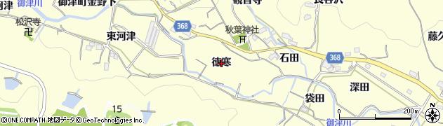 愛知県豊川市御津町金野(徳寒)周辺の地図