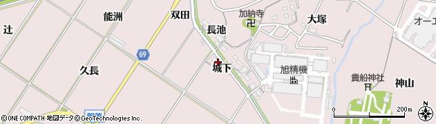 愛知県豊橋市賀茂町(城下)周辺の地図
