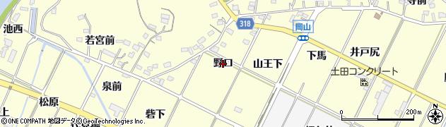 愛知県西尾市吉良町岡山(野口)周辺の地図