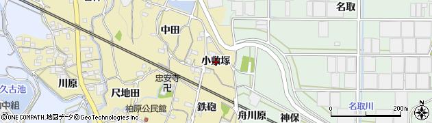 愛知県蒲郡市柏原町(小敷塚)周辺の地図