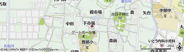 愛知県蒲郡市神ノ郷町周辺の地図