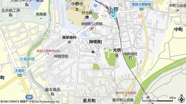 〒675-1331 兵庫県小野市神明町の地図