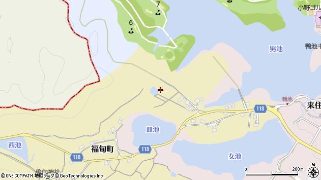 〒675-1346 兵庫県小野市福甸町の地図