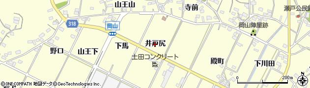 愛知県西尾市吉良町岡山(井戸尻)周辺の地図