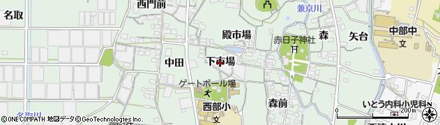 愛知県蒲郡市神ノ郷町(下市場)周辺の地図