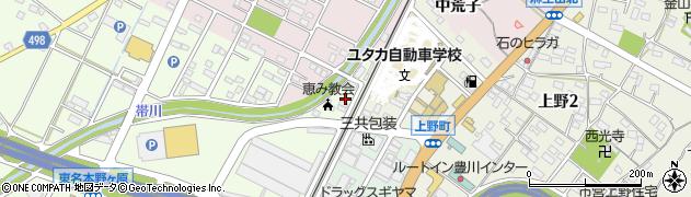 愛知県豊川市麻生田町(野中)周辺の地図