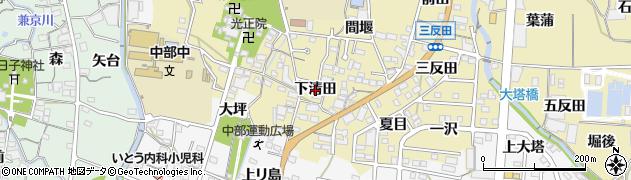 愛知県蒲郡市清田町(下清田)周辺の地図