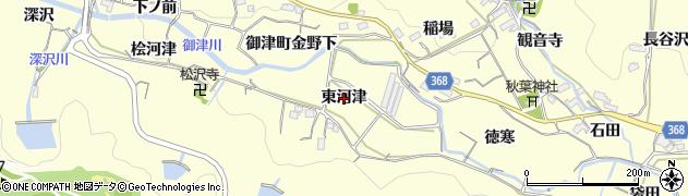 愛知県豊川市御津町金野(東河津)周辺の地図