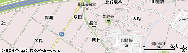 愛知県豊橋市賀茂町(長池)周辺の地図