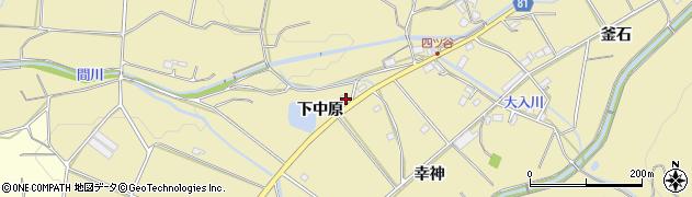 愛知県豊橋市石巻萩平町(下中原)周辺の地図