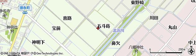 愛知県西尾市徳永町(五斗蒔)周辺の地図