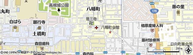 大阪府高槻市八幡町周辺の地図