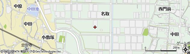 愛知県蒲郡市神ノ郷町(名取)周辺の地図