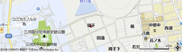 愛知県豊川市野口町(堤下)周辺の地図
