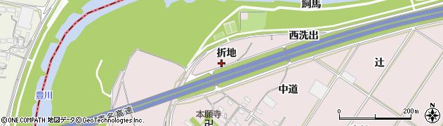 愛知県豊橋市賀茂町(折地)周辺の地図