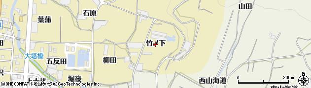 愛知県蒲郡市清田町(竹ノ下)周辺の地図