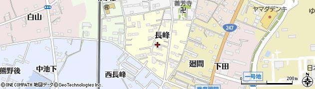 愛知県武豊町(知多郡)長峰周辺の地図