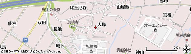 愛知県豊橋市賀茂町(大塚)周辺の地図
