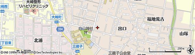 愛知県豊川市三蔵子町(宮前)周辺の地図