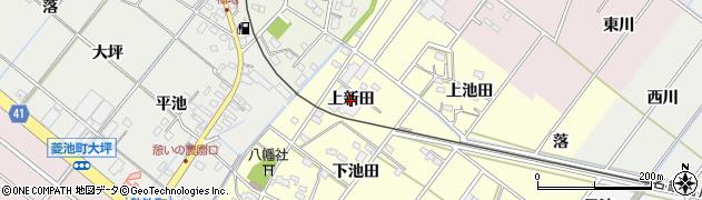 愛知県西尾市須脇町(上新田)周辺の地図