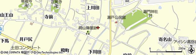 愛知県西尾市吉良町岡山(尾崎新田)周辺の地図