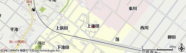 愛知県西尾市須脇町(上池田)周辺の地図