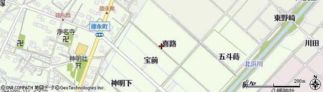 愛知県西尾市徳永町周辺の地図