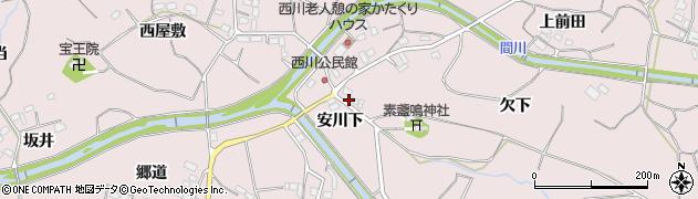 愛知県豊橋市石巻西川町(安川下)周辺の地図
