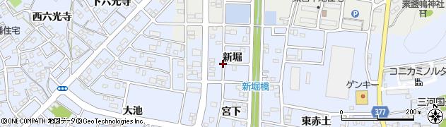 愛知県豊川市八幡町(新堀)周辺の地図