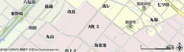 愛知県西尾市針曽根町(大上ミ)周辺の地図