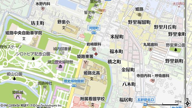 〒670-0009 兵庫県姫路市鍵町の地図