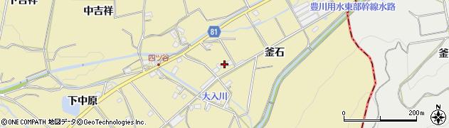 愛知県豊橋市石巻萩平町(釜石)周辺の地図