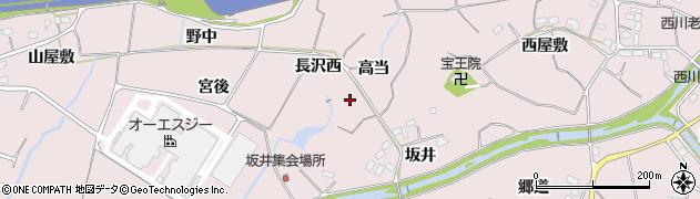 愛知県豊橋市賀茂町(高当)周辺の地図