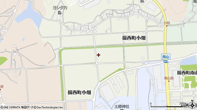 〒679-4025 兵庫県たつの市揖西町小畑の地図