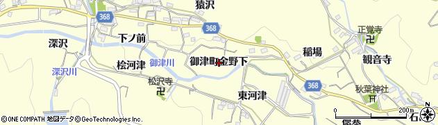 愛知県豊川市御津町金野(下)周辺の地図